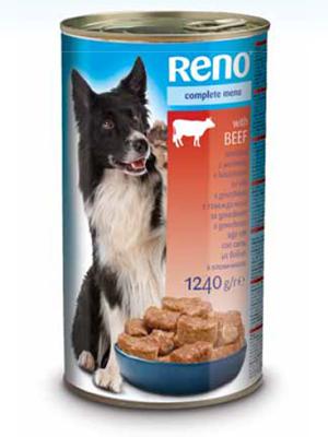 Консервы для собак RENO со вкусом говядины - фото упаковки