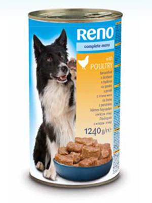 Консервы для собак RENO со вкусом птицы - фото упаковки